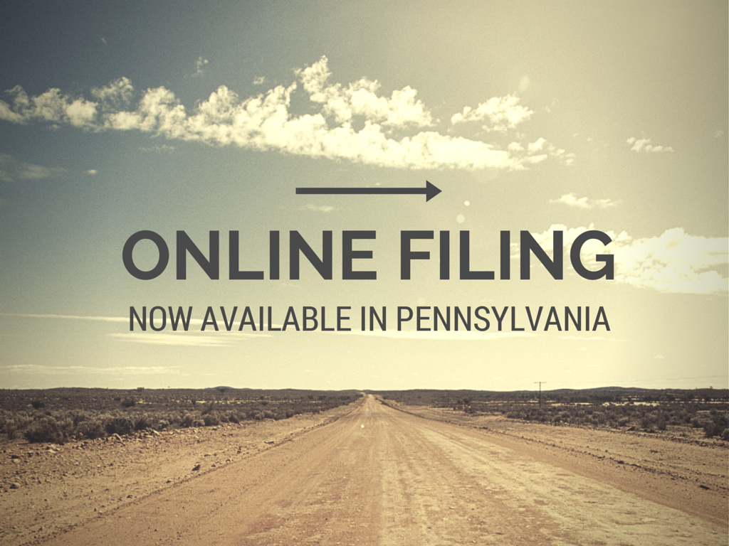 Online Filing Now Available In Pennsylvania Blog