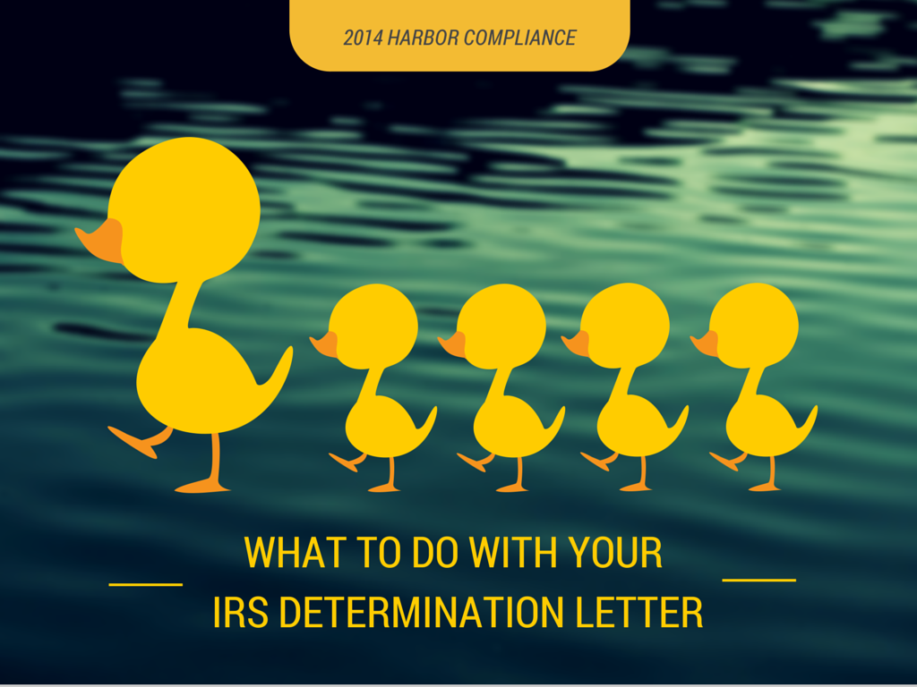 Nonprofit Compliance PostIrs Determination Letter  Blog  Harbor