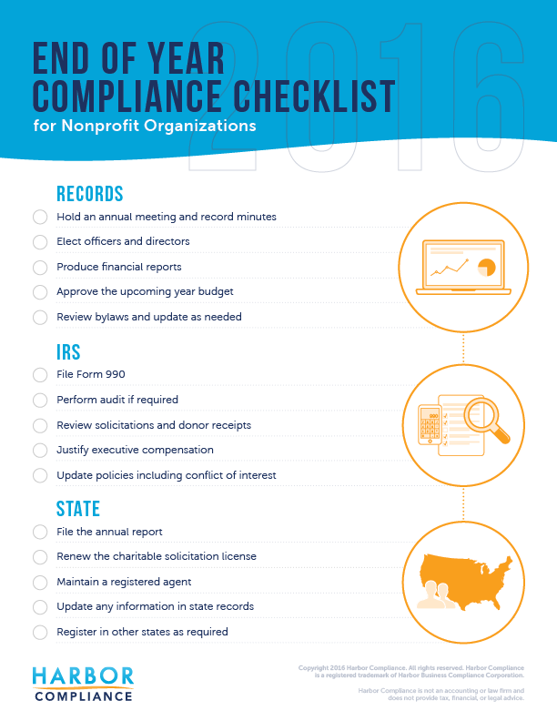 end-of-year-nonprofit-compliance-checklist-2016