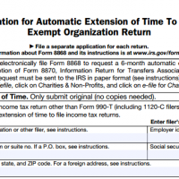 New Law Streamlining Form 990 Extensions Comes into Effect